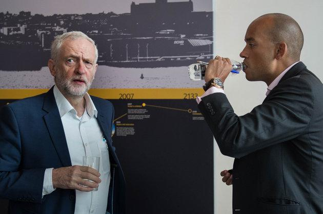 Labour Leader Jeremy Corbyn and TIG MP Chuka Umunna