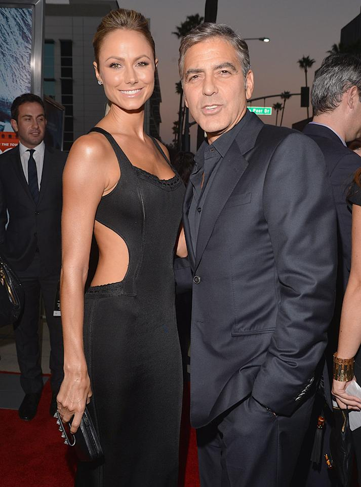 """George Clooney and Stacy Keibler's """"relationship is almost kaput,"""" reveals the <em>New York Daily News</em>. The paper notes that they'<span style=""""font-size:10.0pt;color:black;"""">ve """"spent a significant amount of time apart,"""" and are """"barely talking"""" these days. For how """"rocky"""" the romance is now, and why the actor is """"pulling away from her,"""" see what a Clooney pal leaks to <a target=""""_blank"""" href=""""http://www.gossipcop.com/george-clooney-dumping-stacy-keibler-split-splitting-up-breakup/"""">Gossip Cop</a>.<br></span>"""