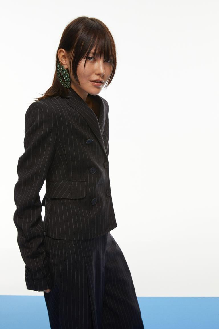 <p>This <span>H&amp;M Pinstripe Blazer</span> ($199) is far for boring. We love it paired with matching pants, or a sexy dress underneath.</p>