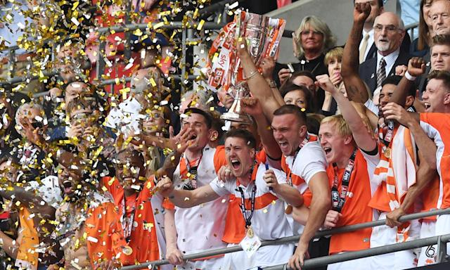 Blackpool's Mark Cullen sinks Exeter City in League Two play-off final