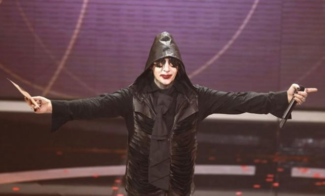 Proof Marilyn Manson is human: He got the flu.