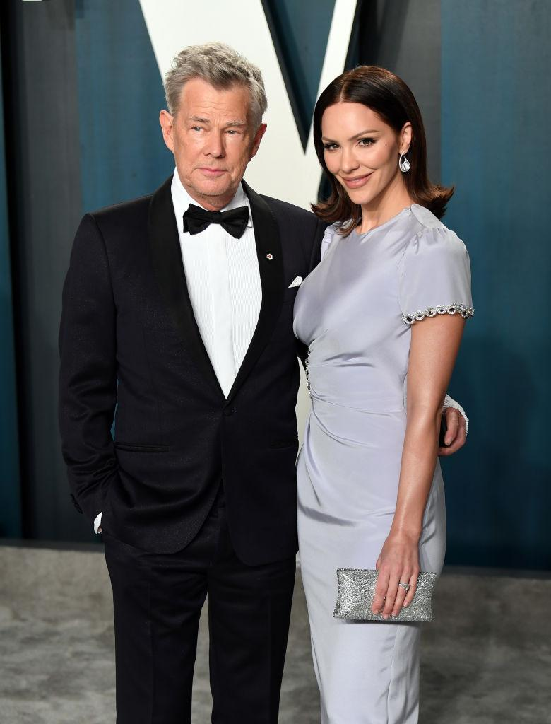 David Foster and Katharine McPhee were spotted on a double date with Prince Harry and Meghan Markle. (Photo by Karwai Tang/Getty Images)