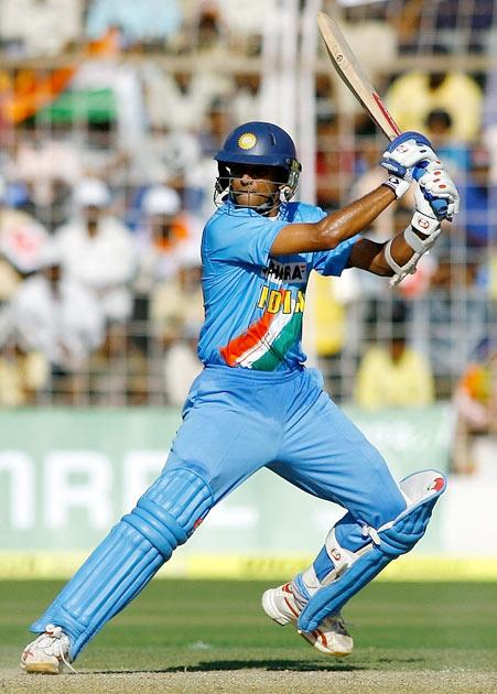 On 14 February 2007, he became the sixth player and the third Indian (after Sachin Tendulkar and Sourav Ganguly), to score 10,000 runs in ODIs.