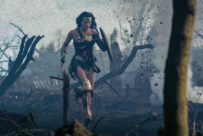 "The actual plot of the movie involves Wonder Woman <a href=""http://www.cnn.com/2017/06/01/entertainment/wonder-woman-review/index.html"" target=""_blank"">teaming up with an American pilot </a>to stop German forces. (Clay Enos/ TM DC Comics)"