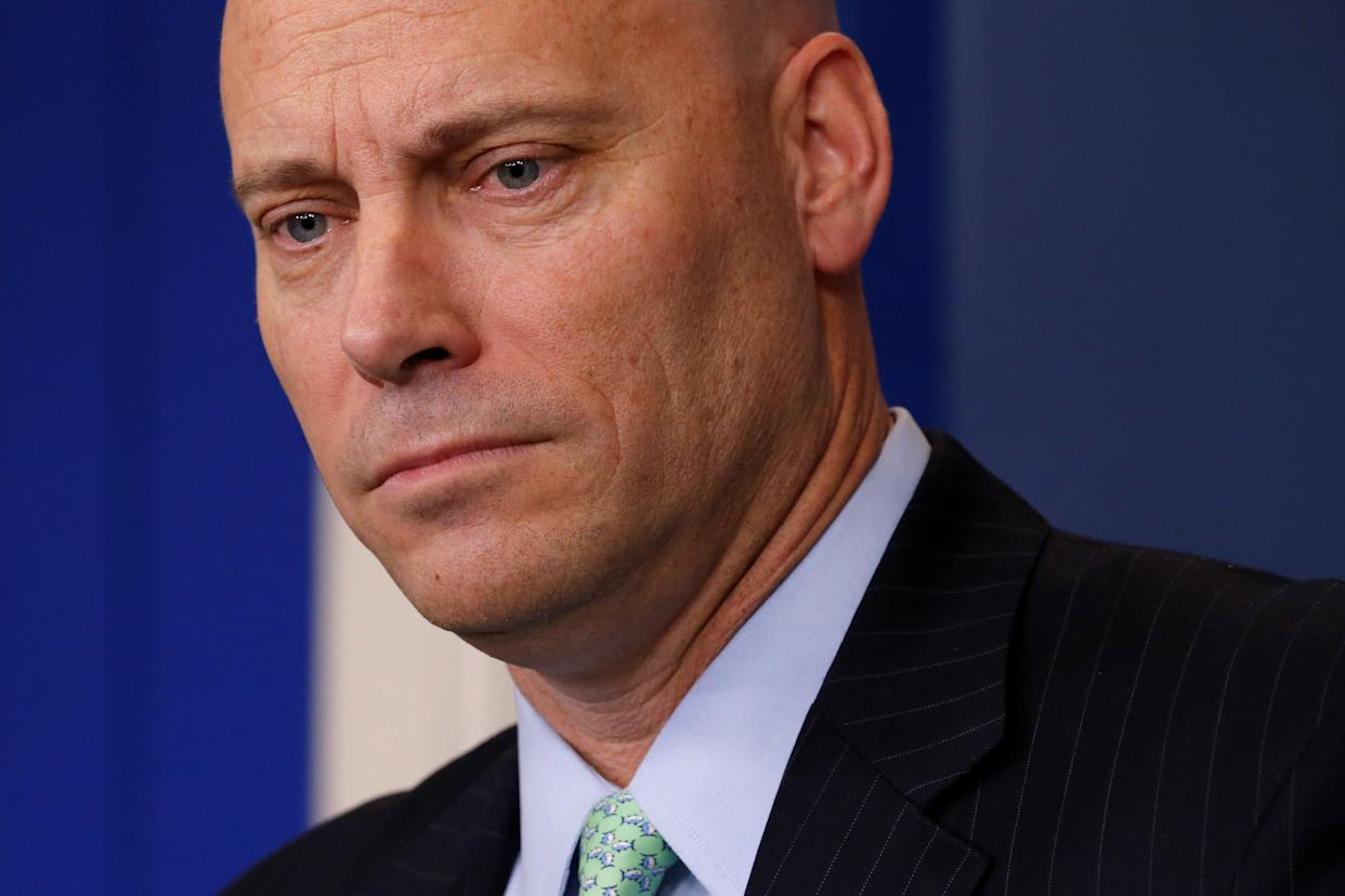 Former White House Director of Legislative Affairs Marc Short, seen here in March,has been hired as asenior fellow at the University of Virginia's Miller Center of Public Affairs. (Photo: Jonathan Ernst / Reuters)