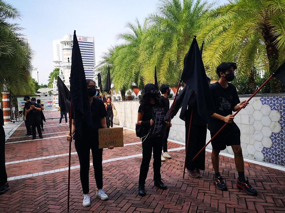 The protesters are expected to converge on Dataran Merdeka at 11am, after which the event is expected to last for two hours. ― Picture by Shafwan Zaidon