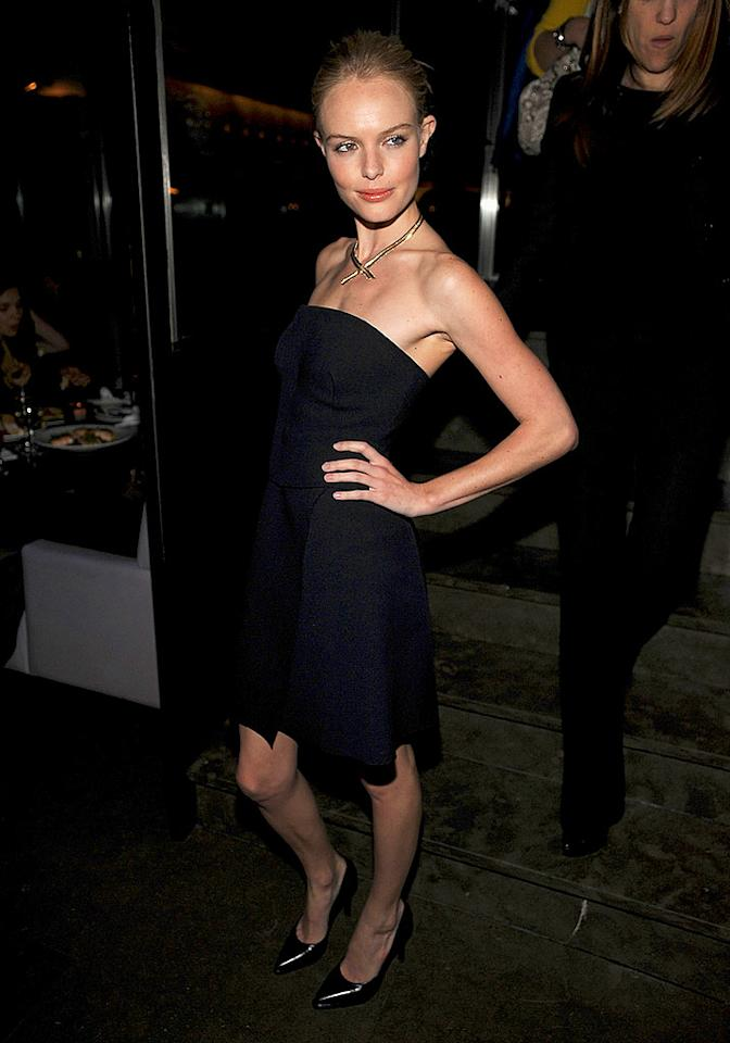 "Kate Bosworth attends the Calvin Klein-hosted after party for her new film ""21"" at NYC's Mercer Kitchen. Dimitrios Kambouris/<a href=""http://www.wireimage.com"" target=""new"">WireImage.com</a> - March 26, 2008"