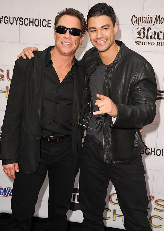 """Jean-Claude Van Damme and Kristopher Van Varenberg attend Spike TV's 6th Annual """"Guys Choice"""" Awards at Sony Studios on June 2, 2012 in Los Angeles, California."""