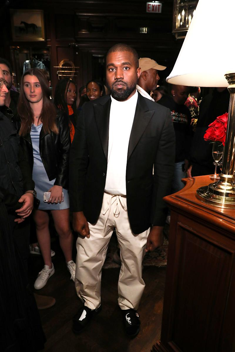 This Kanye West Outfit Is a Real Rule-Breaker