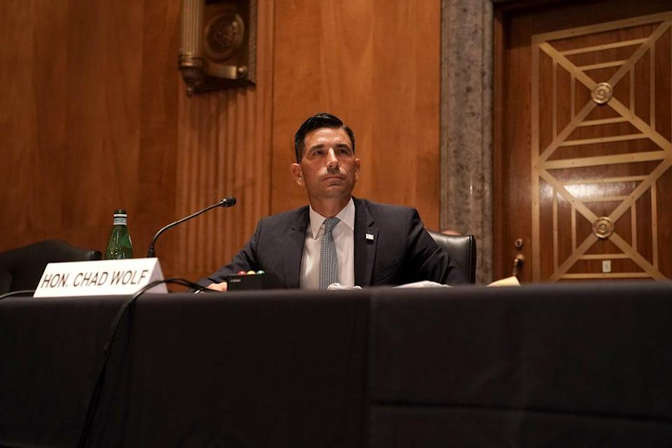 Department of Homeland Security acting Secretary testifies during his confirmation hearing before the Senate Homeland Security and Governmental Affairs Committee o on September 23, 2020 in Washington, DC. (Photo by Greg Nash-Pool/Getty Images)