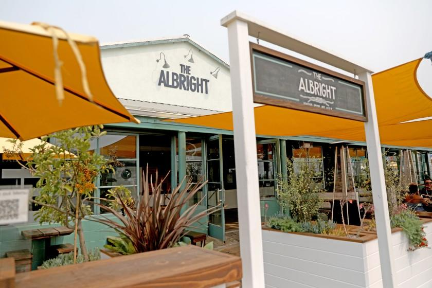 SANTA MONICA, CA - SEPTEMBER 11: The Albright at the Santa Monica Pier on Friday, Sept. 11, 2020 in Santa Monica, CA. The restaurant, now open, was forced to close due to COVID-19 shutdown. (Gary Coronado / Los Angeles Times)