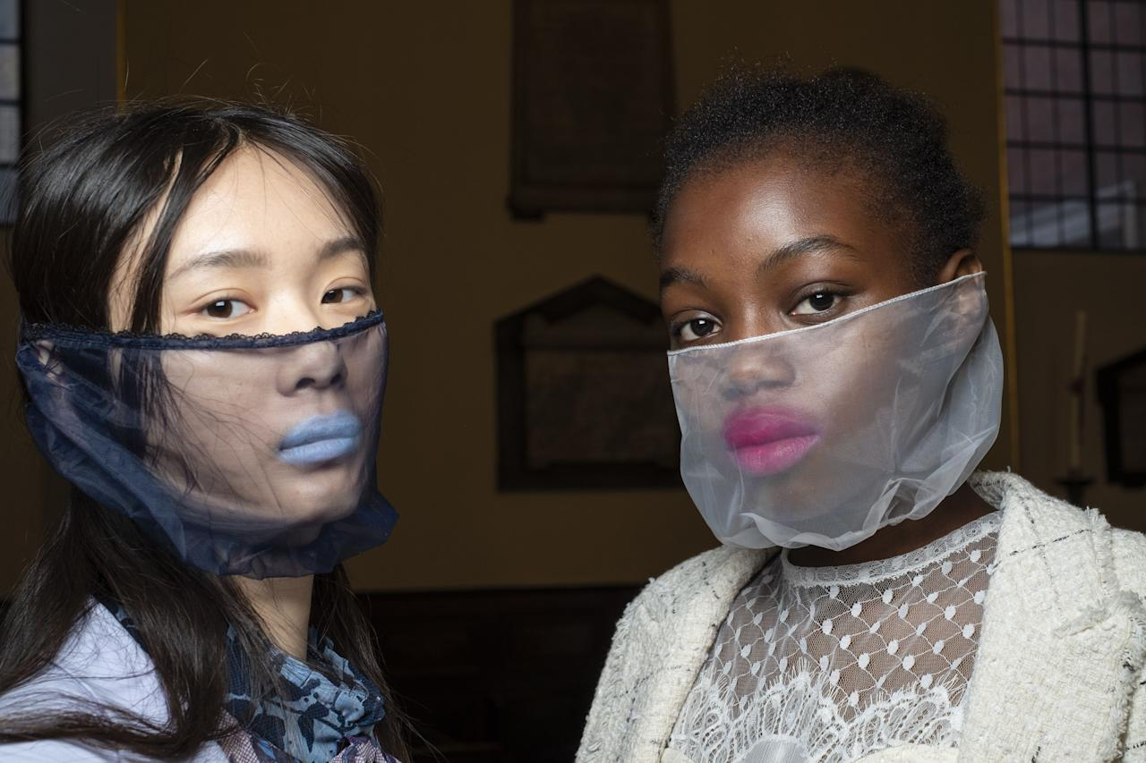"""<p>It's time to put the phrase 'new normal' into practise and make the <a href=""""https://www.elle.com/uk/fashion/g32461591/where-buy-face-masks/"""" target=""""_blank"""">face mask</a> part of our everyday wardrobe. Whether it's a scarf worn around the neck ready to double up as a covering when needed, or a full-blown perspex space suit-esque shield, see the best of SS21's face coverings here.</p>"""