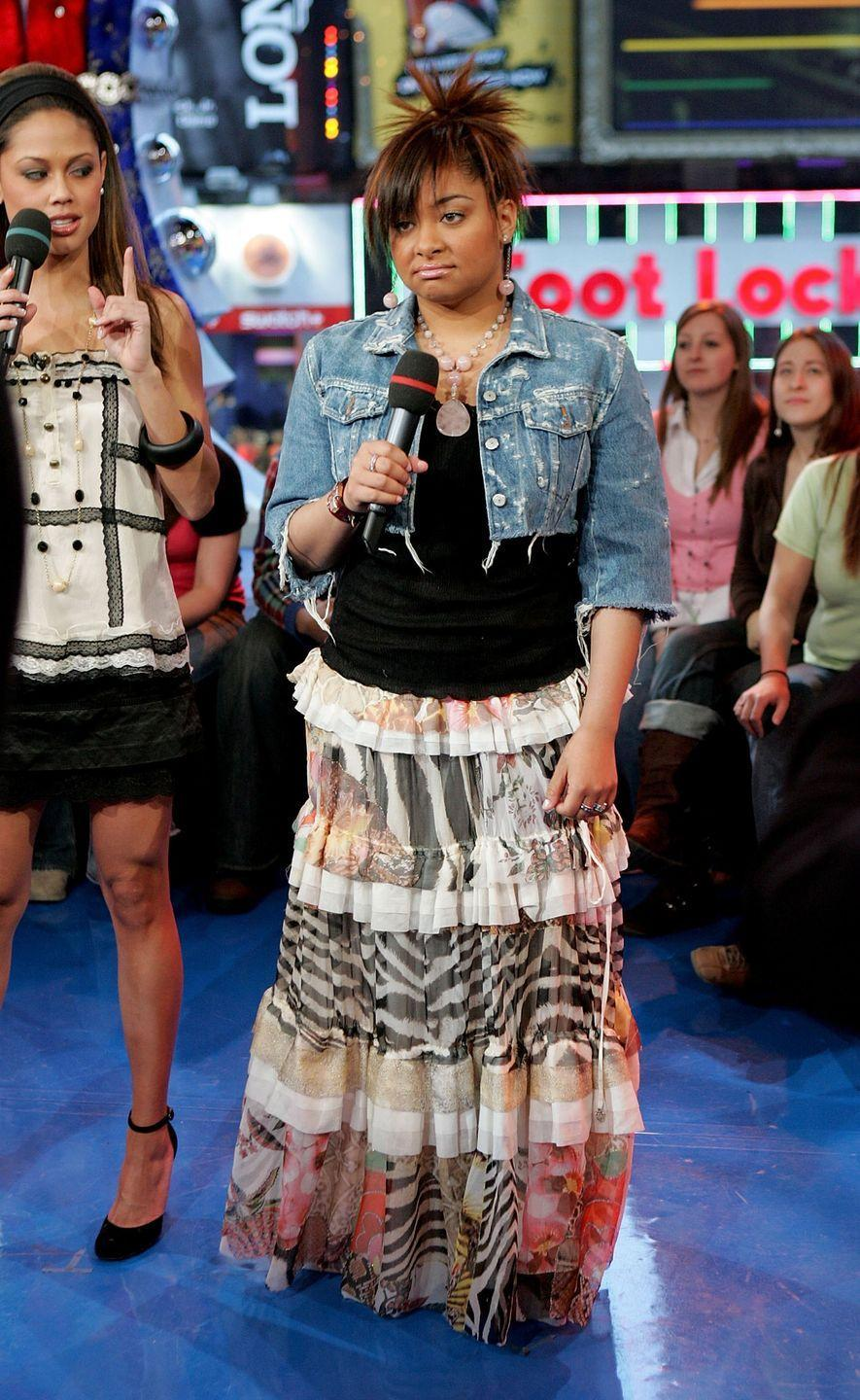 <p>Raven Symone saw into the future and knew this look wasn't going to hold up in 2020. Sorry girl. </p>