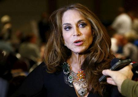 FILE PHOTO: Political blogger Pamela Geller, American Freedom Defense Initiative's Houston-based founder, speaks at the Muhammad Art Exhibit and Contest, which is sponsored by the American Freedom Defense Initiative, in Garland, Texas, U.S., May 3, 2015. REUTERS/Mike Stone/File Photo