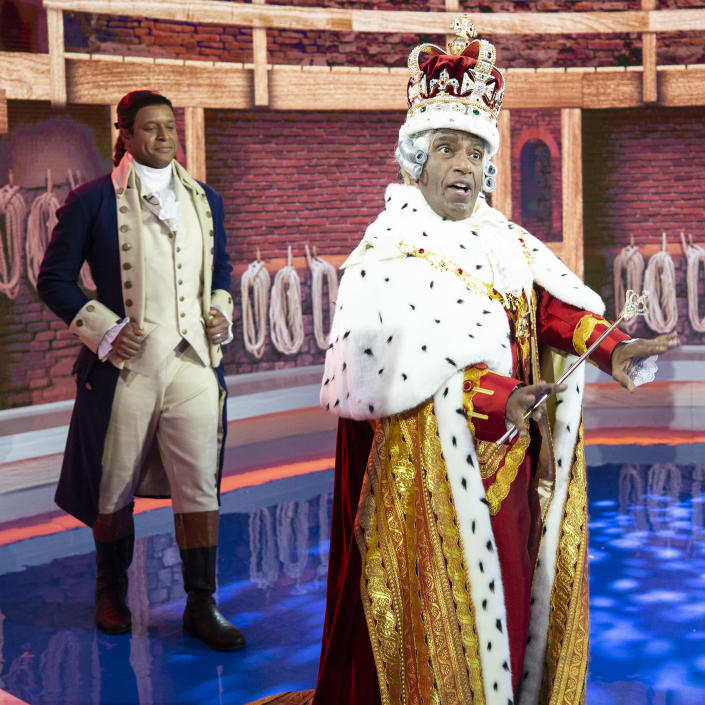 TODAY Show Halloween 2020: Craig Melvin and Al Roker dressed as Alexander Hamilton and King George from Broadway's