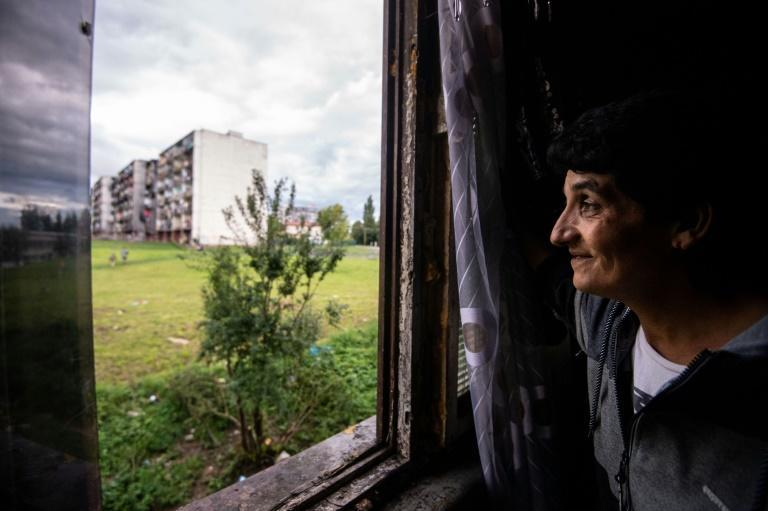 Maria Horvathova, 45, is one of the few locals to have a job (AFP/VLADIMIR SIMICEK)