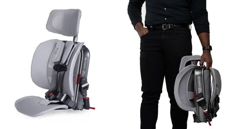 An easy-to-carry carseat for trips that include planes, trains, and automobiles.