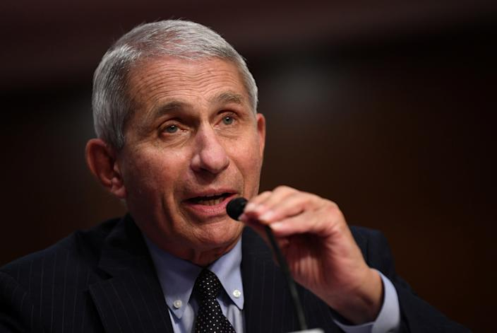 Dr Anthony Fauci, director of the National Institute for Allergy and Infectious Diseases, testifies during a Senate Health, Education, Labor and Pensions (HELP) Committee hearing on Capitol Hill in Washington, U.S., June 30, 2020. (Kevin Dietsch/Reuters)