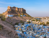 <p>A visit to Jodhpur's Blue City will leave you feeling anything but blue. A mesmerizing sea of cobalt, robin's egg, cerulean and indigo abodes, this city is a photographer's (or Instagrammer's) paradise. </p><p>Perched on the precipice of the Thar Desert and aptly nicknamed the 'Sun City' for the amount of bright and sunny days each year, there is no viewpoint more guaranteed to dazzle than one that overlooks the color of Blue City, Jodhpur. While roaming the narrow alleys by foot is magical in itself, seeing the Blue City by hot-air balloon is a once in a lifetime experience. The stark surrounding landscape juxtaposed with the remarkable views of Jodhpurs grand forts and temples makes for a truly special view of this vivid city, and one of the best in the world.</p>
