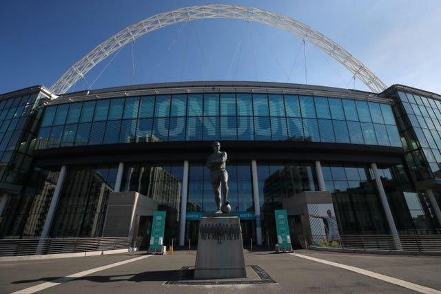 Wembley will stage England's match with Croatia on Sunday