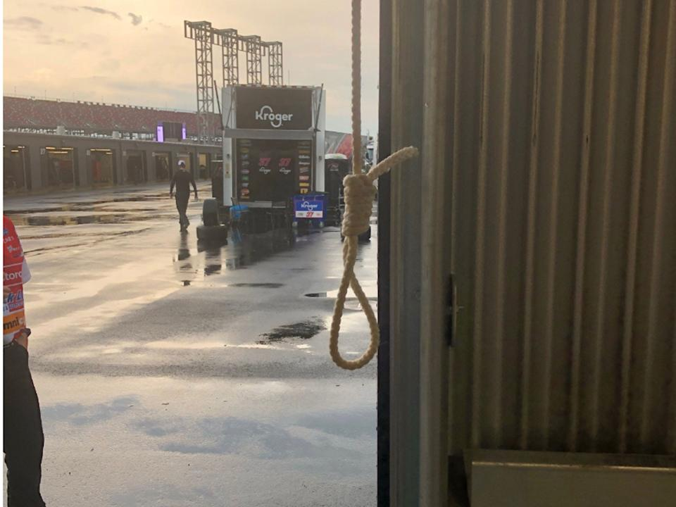 Noose found in Bubba Wallace's garage stall.