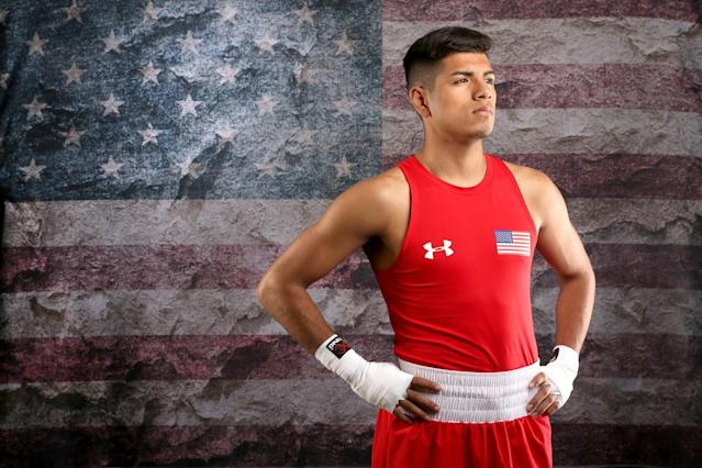 Carlos Balderas Jr. also is representing the U.S. in Rio. (Getty Images)