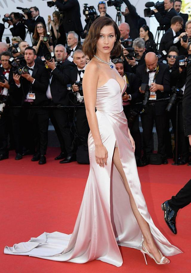 Bella Hadid at the 2017 Cannes Film Festival in France. (Photo: Dominique Charriau/WireImage)