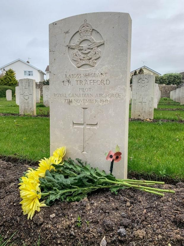 Ivan Trafford's gravesite in Llantwit Major Cemetery. April 11 will mark the 100th anniversary of his birth, and Chris Lloyd plans to visit his grave to mark the day.
