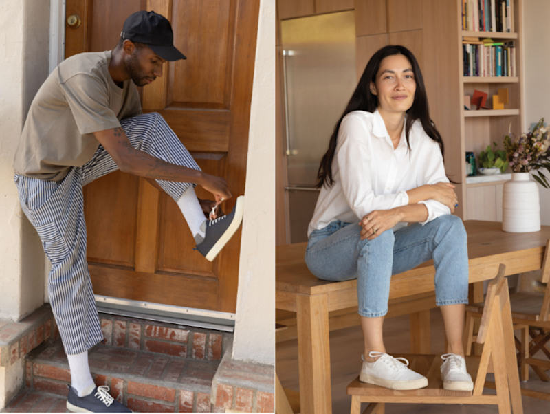 Everlane's new Forever Sneakers. Images courtesy of Everlane.