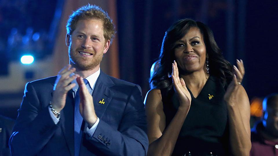 Prince Harry with Michelle Obama