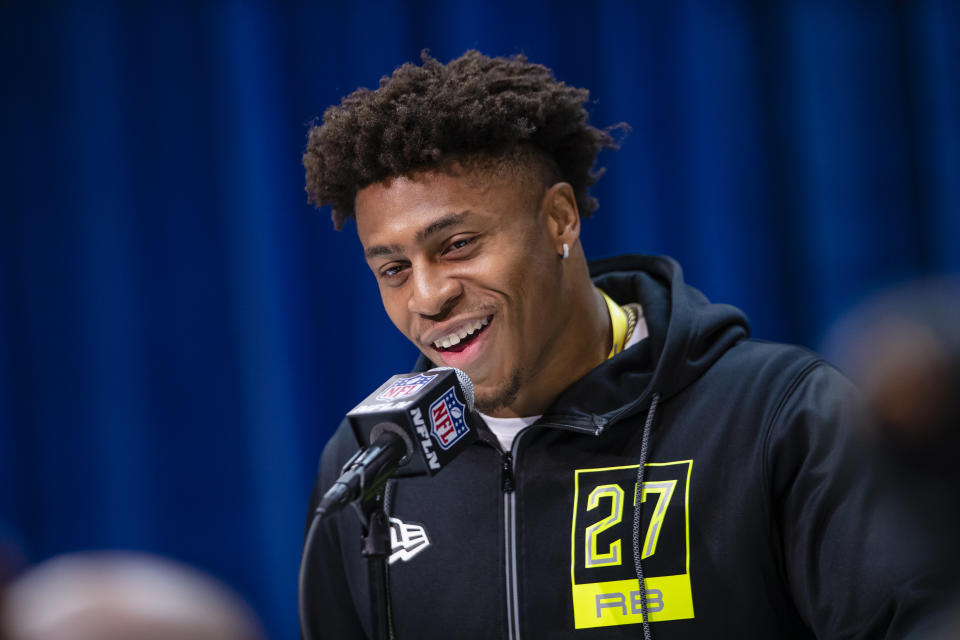 Wisconsin RB Jonathan Taylor is one of the smartest and toughest backs in the 2020 NFL draft class. (Photo by Michael Hickey/Getty Images)