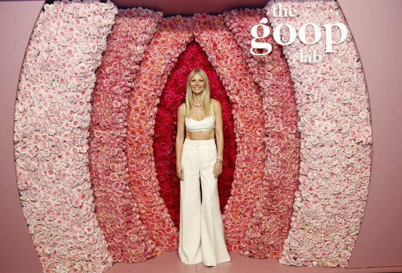 The Goop founder, seen here at a Goop event in January 2020, swears by vitamins to help symptoms of perimenopause. (Getty Images)