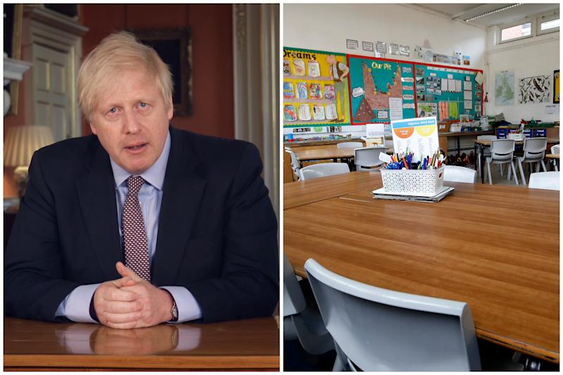 Boris Johnson has said some year groups could be back at school in June. (PA Images)
