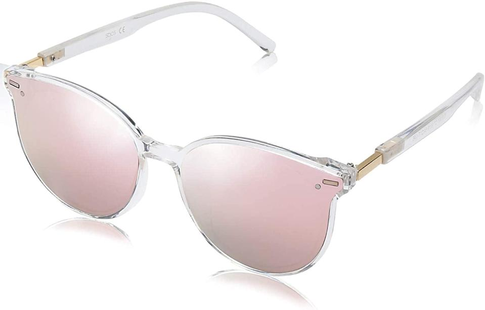 <p>If you like to experiment with color, these <span>SOJOS Classic Round Sunglasses</span> ($14) are a must have.</p>