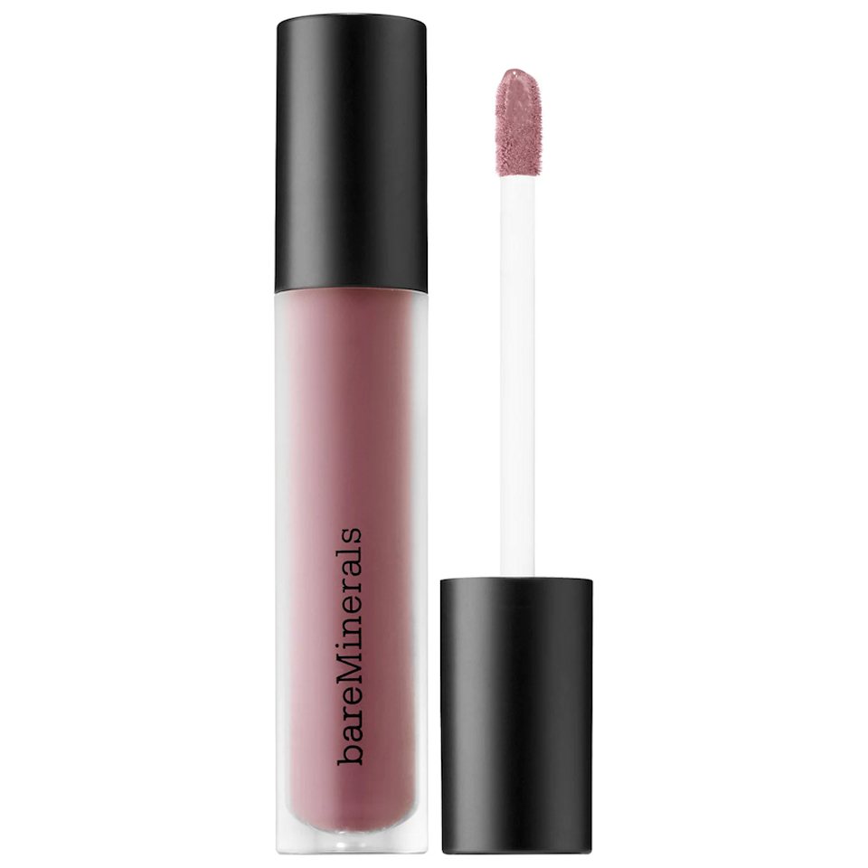 "With almost every beauty brand coming out with its own spin on <a href=""https://www.glamour.com/story/maybelline-new-york-superstay-matte-ink-review?mbid=synd_yahoo_rss"" rel=""nofollow noopener"" target=""_blank"" data-ylk=""slk:liquid lipstick"" class=""link rapid-noclick-resp"">liquid lipstick</a>, two camps have formed: There's the ""sucks the life out of your lips but it stays on"" family, and the ""mousse-y, feel it on your lips"" division. For winter, Hughes loves the latter, especially <a href=""https://www.ulta.com/gen-nude-matte-liquid-lipcolor?productId=xlsImpprod14301045"" rel=""nofollow noopener"" target=""_blank"" data-ylk=""slk:BareMinerals' liquid matte lipstick"" class=""link rapid-noclick-resp"">BareMinerals' liquid matte lipstick</a>. ""It's really, really creamy and not the matte-est of the mattes,"" she says. For a true matte finish, she says <a href=""https://www.ulta.com/powermatte-lip-pigment?productId=xlsImpprod16671161"" rel=""nofollow noopener"" target=""_blank"" data-ylk=""slk:Nars' Powermatte"" class=""link rapid-noclick-resp"">Nars' Powermatte</a> formula is unbeatable. $19, BareMinerals Gen Nude Matte Liquid Lipcolor. <a href=""https://shop-links.co/1726279606771898212"" rel=""nofollow noopener"" target=""_blank"" data-ylk=""slk:Get it now!"" class=""link rapid-noclick-resp"">Get it now!</a>"