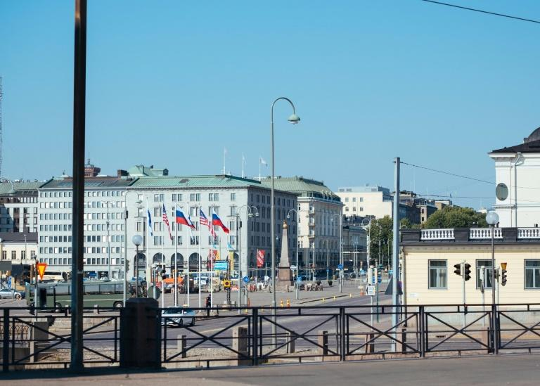 The Helsinki waterfront basked in sunshine as a grim-faced Trump and Putin held a two hour closed door meeting