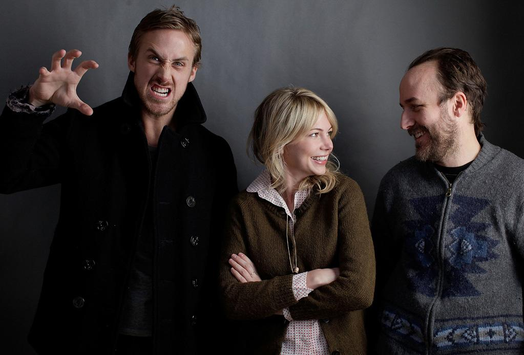 """<a href=""""http://movies.yahoo.com/movie/contributor/1804035474"""">Ryan Gosling</a>, <a href=""""http://movies.yahoo.com/movie/contributor/1800018861"""">Michelle Williams</a> and <a href=""""http://movies.yahoo.com/movie/contributor/1808872092"""">Derek Cianfrance</a> pose for a portrait at the 2010 Sundance Film Festival in Park City, Utah on January 25, 2010"""