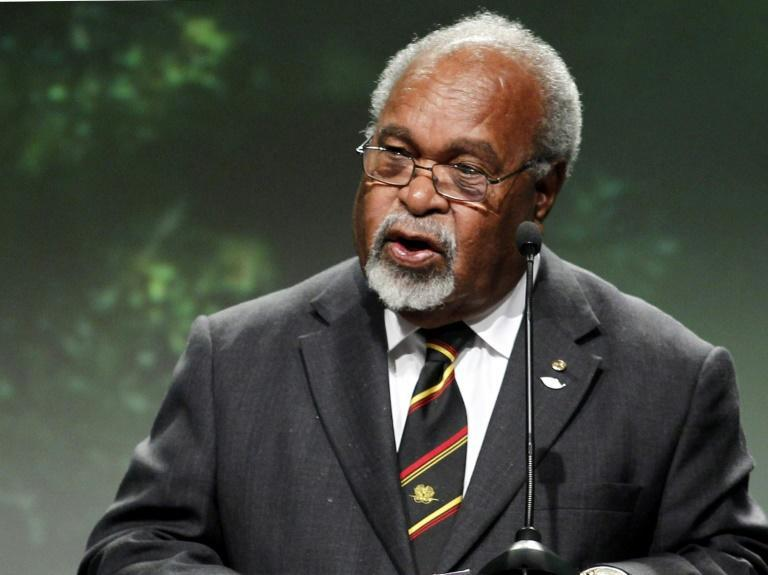 For decades, Sir Michael Somare, seen here in 2010, was the dominant political figure in Papua New Guinea