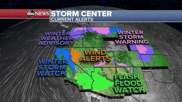 PHOTO: A storm system is moving east into New Mexico and western Texas and will produce severe (ABC News)