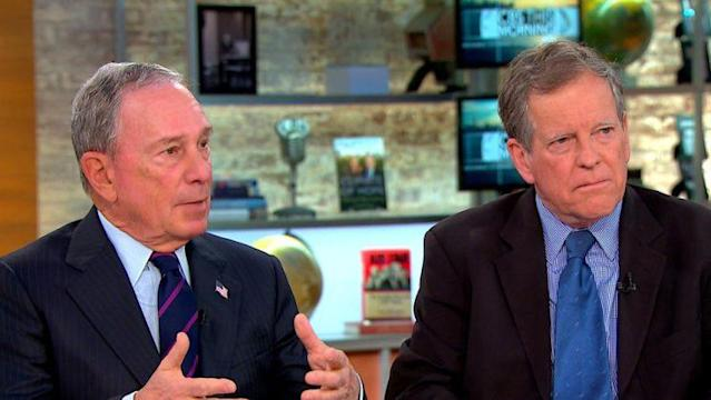 """Mike Bloomberg and Carl Pope on """"CBS This Morning."""" (Photo: CBS News)"""