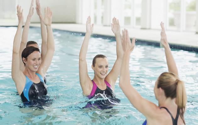 An indoor pool is excellent for year round exercise for asthmatics ©Rex