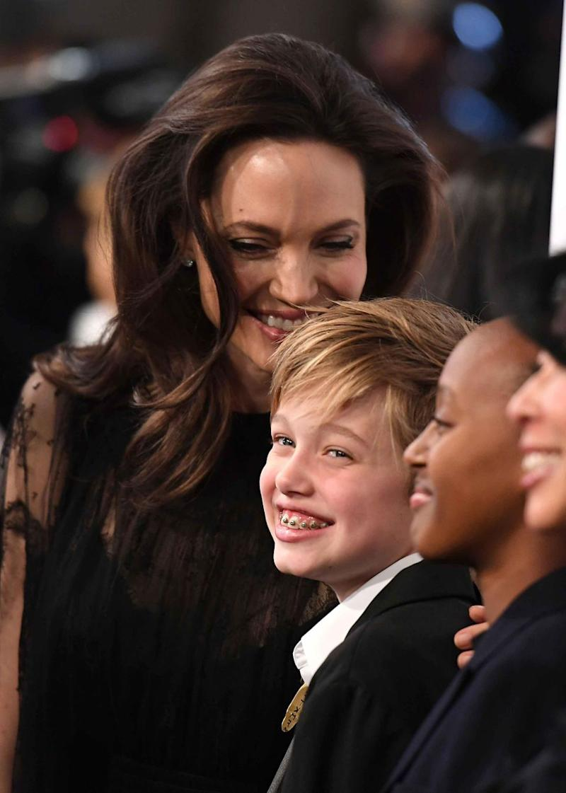 The 42-year-old was being a doting mother to Shiloh. Source: Getty