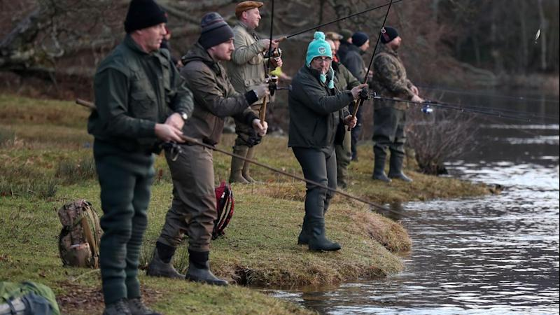 Whisky, waders as Scots welcome salmon
