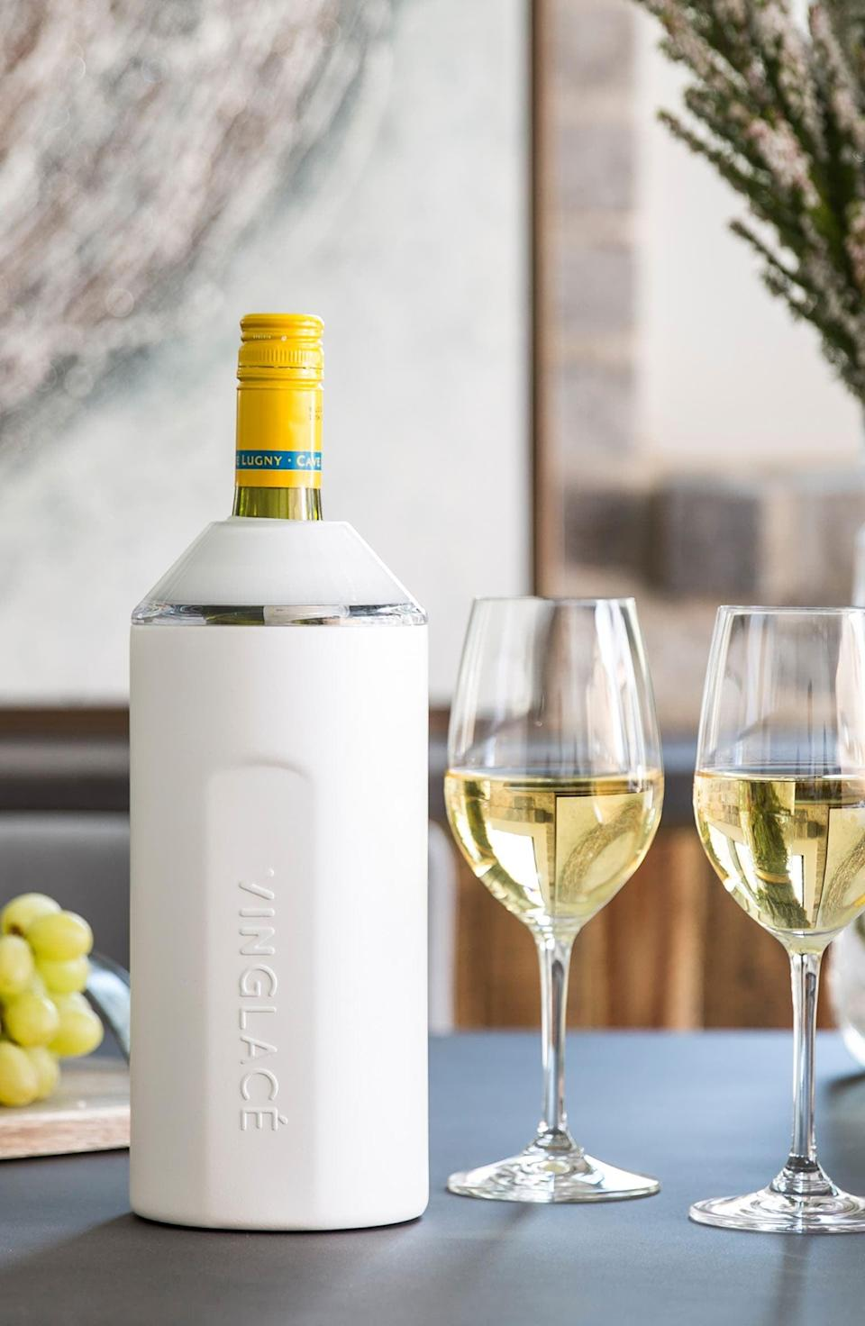<p>Keep all their wine cold and crisp with this <span>Vinglace Wine Chiller</span> ($90).</p>