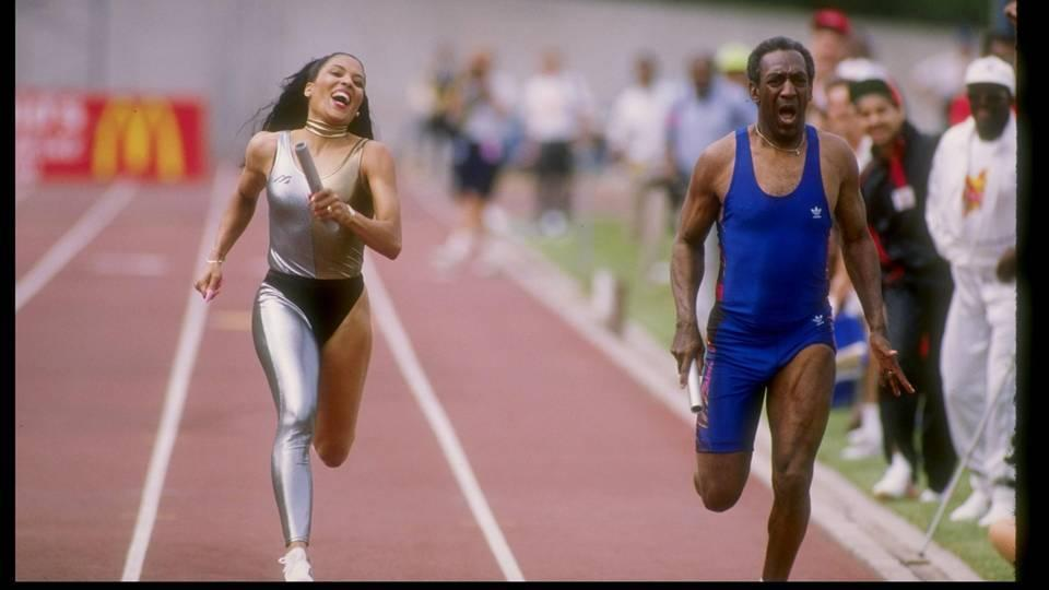 Florence Griffith-Joyner gegen Bill Cosby am 1. Januar 1989