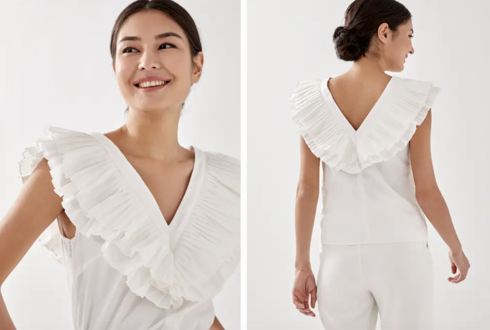 PHOTO: Love, Bonito. Jacie Pleated Ruffle Top