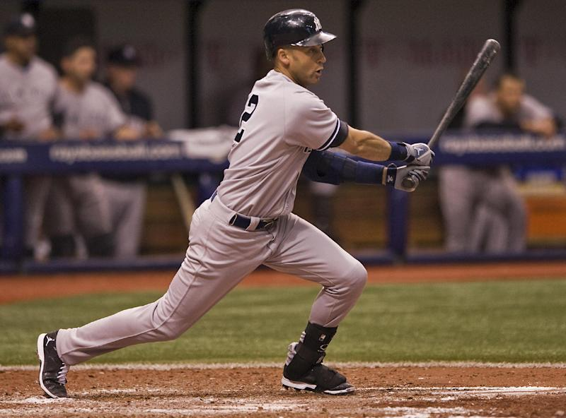 Jeter has RBI single in 9th, Yankees top Rays 3-2