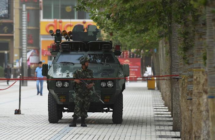 China blames what it calls Islamist terrorists for ongoing violence in the mainly Muslim far western region of Xinjiang (AFP Photo/Greg Baker)