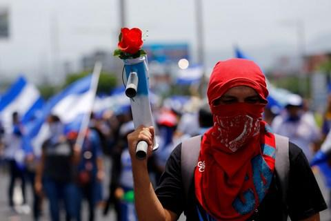 Protests have been ongoing since mid-April - Credit: REUTERS/OSWALDO RIVAS