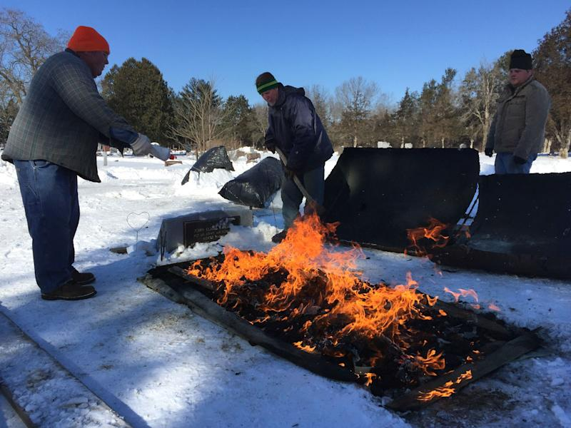 Meet the Wisconsin men who still dig graves by hand — even when the cemetery ground is frozen
